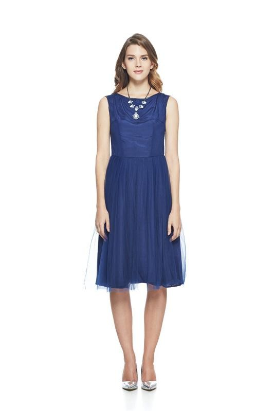 Dark Blue Tulle Dress