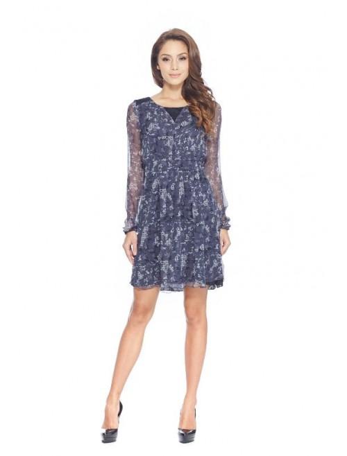 Grigio Silk Dress