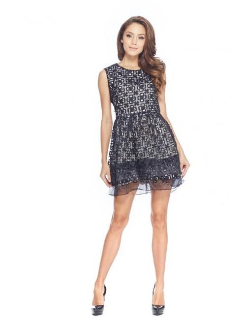 Black Layered Skirt Dress