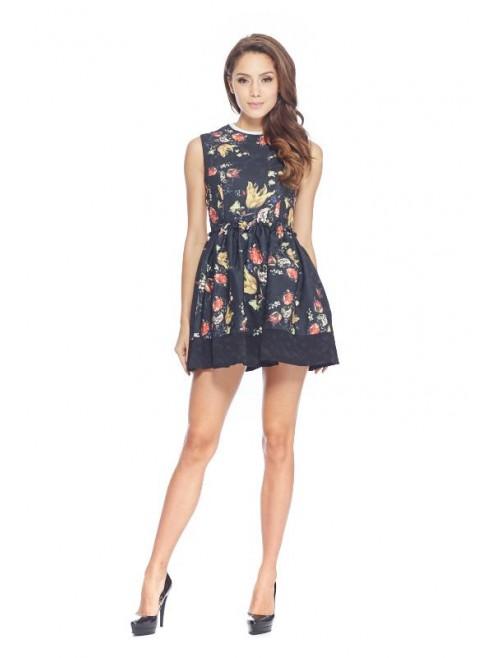 Floreale Black Dress