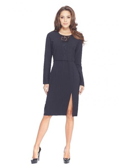 Polyester Black Dress