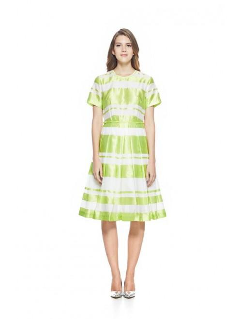 Stripe Dress Green