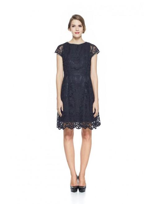Cristina black lace dress